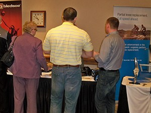 There was a constant stream of visitors to each of the exhibit tables.