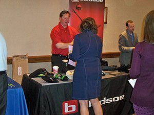 From golfing to exhibiting, Bledsoe was heavily involved in our event.