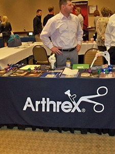 Arthrex was one of over 20 exhibitors participating during the weekend conference.