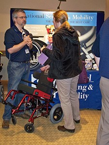 Exhibitors like National Seating and Mobility represented a rowing number of equipment vendors participating.
