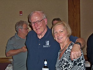 Dr. Bill Sale and wife June Sale, PT, enjoyed Friday evening's reception with orthopaedic surgeons, physical therapists, exhibitors and guests.