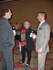 WVPTA Executive Director Nancy Tonkin was cornered by the camera while visiting with members during the reception.