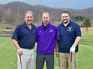 WV Orthopaedic Society (WVOS) President Dr. David Ede (left) enjoys the first tee time of the season at Stonewall Resort to start the 2014 Spring Break Meeting.