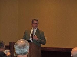 Former WVOS President Dr. David Hubbard, with WVU, shared information on what's new in hips for 2014.