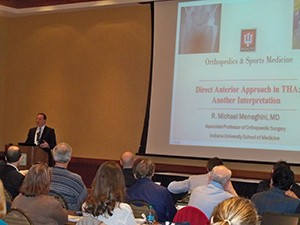 Dr. Robert Meneghini of IU Health Saxony Hospital in Indianapolis shared another interpretation of the anterior hip approach.
