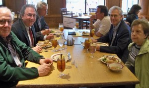 Bill Sale joined the Majestro, Molina and Ede family of physicians for lunch in Stillwaters Restaurant.