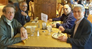 Drs. Kim, Padamanaban, Mir and Puranik enjoy time to renew friendships during the Spring Break Meeting and lunch at Stonewall Resort.