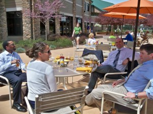 Our residents were smart enough to eat outside and enjoy the sun!