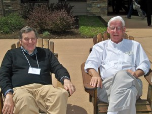 Drs. Robert Lowe and Tom Scott took a lesson from the residents and enjoyed the beautiful day at Stonewall.