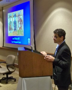 Former WVOS President Luis Bolano, MD, shared information on large practice settings.
