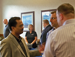 Our physicians took time from visiting with Molnlycke representatives to share new ideas.