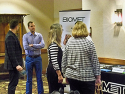 Biomet representatives, as well as those from Medtronic Advanced and Mid Atlantic Surgical, were able to visit with physicians and practice managers Friday and Saturday.