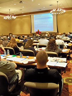 ICD was the focus of the opening day of the 2015 Spring Break Meeting of the West Virginia Association of Orthopaedic Executives and the West Virginia Orthopaedic Society.  The event drew a crowd of physicians, practice managers and staff.