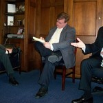 AAOS Councilor Dr. Greg Krivchenia (left), thanked Second District Congressman Alex Mooney (right) for his co-sponsorship of H.R. 1156, the Higher Quality Health Care Act, that would allow for implementation and expansion of physician-led hospitals.